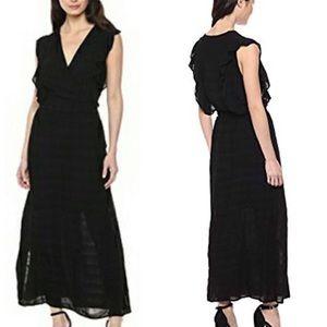 Michael Stars Plisse Ruffle Maxi Dress